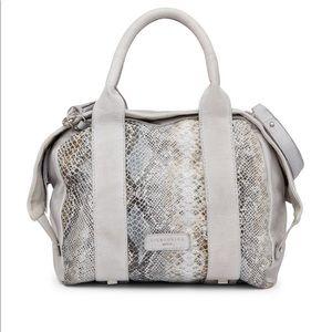 Lieberskind snakeskin leather satchel
